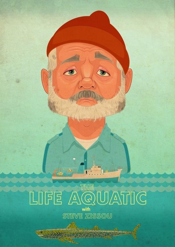 Life Aquatic | #poster #illustration #sea