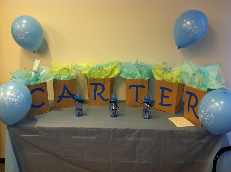 Best 25 office baby showers ideas on pinterest baby shower game office baby shower decorations baby bottles filled with baby ruths and gift bags spelling out negle Gallery