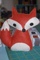 Little White Schoolhouse: free felt fox softie pattern