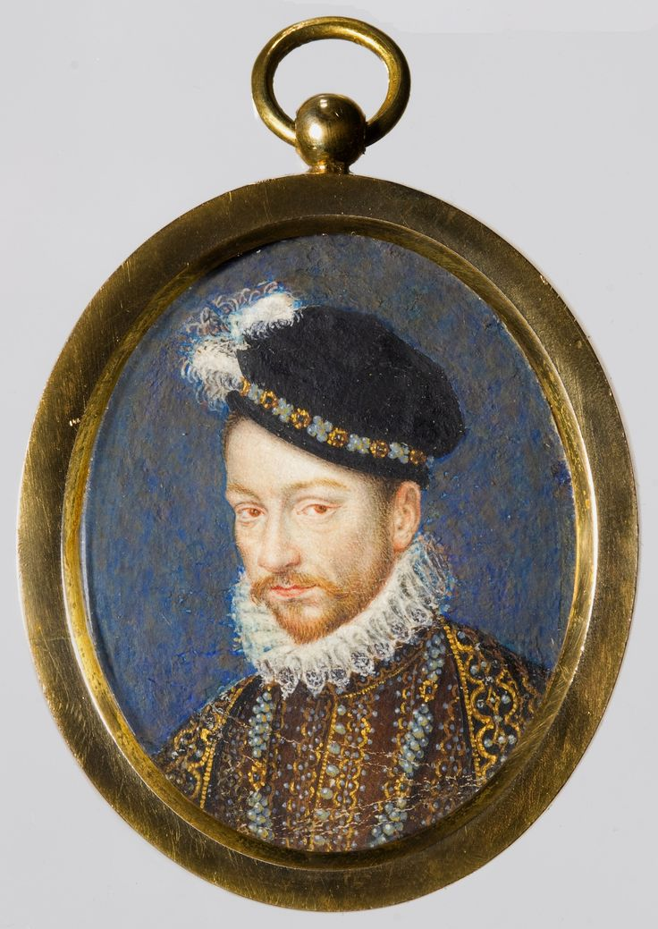 Miniature of Charles IX of France by François Clouet, ca. 1572, Ossolineum