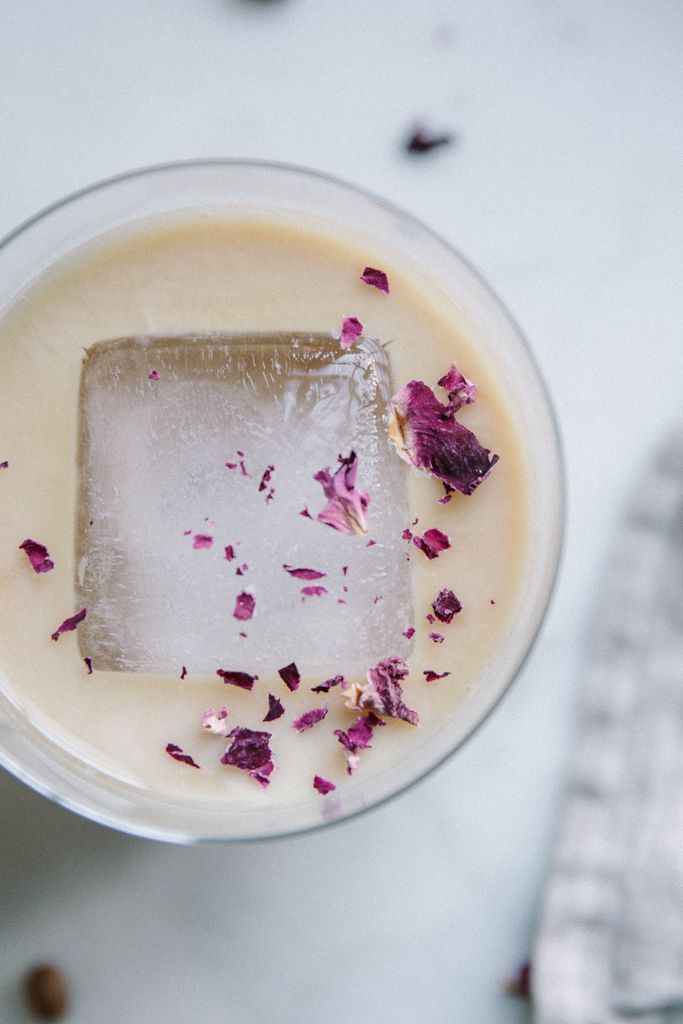 Local Milk | cardamom + rose iced latte / japanese ice coffee