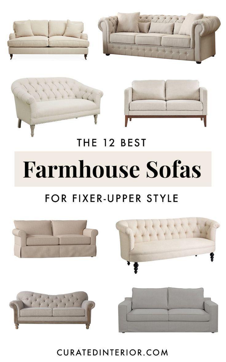 12 Perfect Farmhouse Sofas For All Budgets Farmhouse Living Room