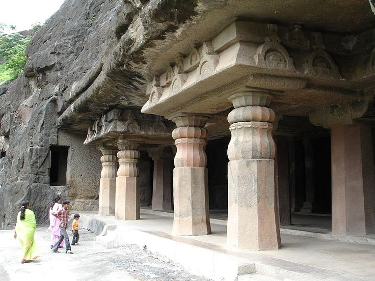 India ajanta caves temples carved out from the wall