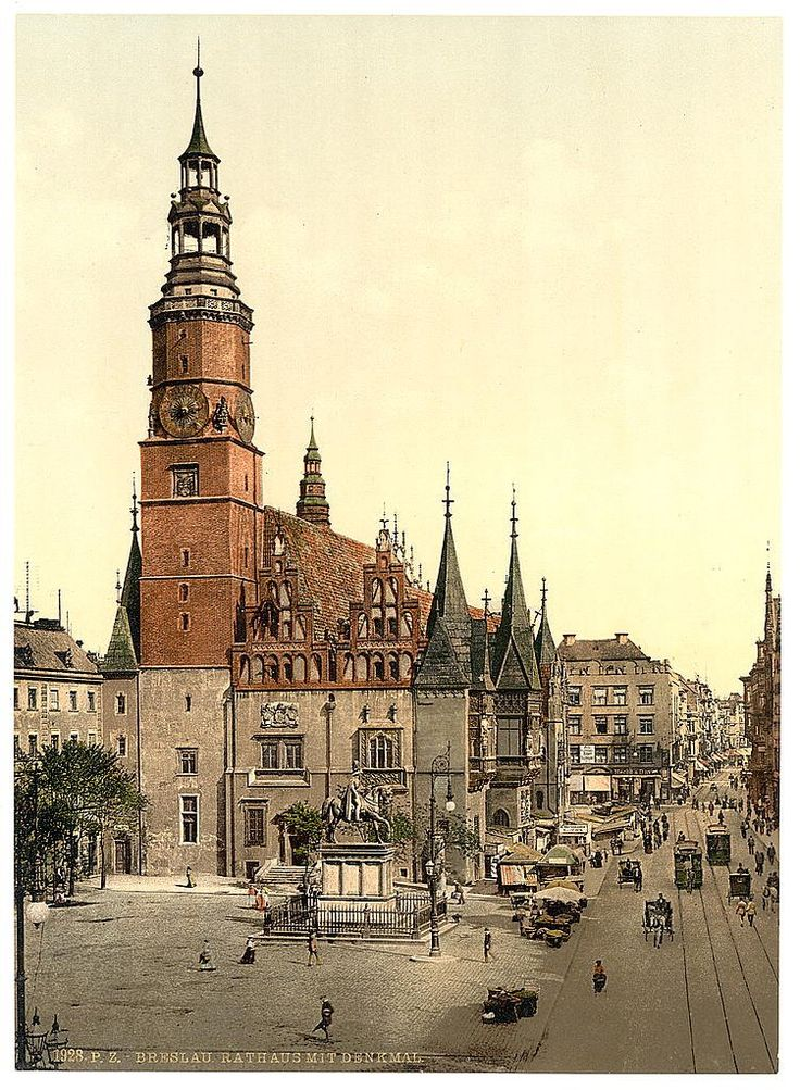 Zdjęcie numer 0 w galerii - Niemiecki Wrocław na kolorowych zdjęciach z amerykańskiej Biblioteki Kongresu
