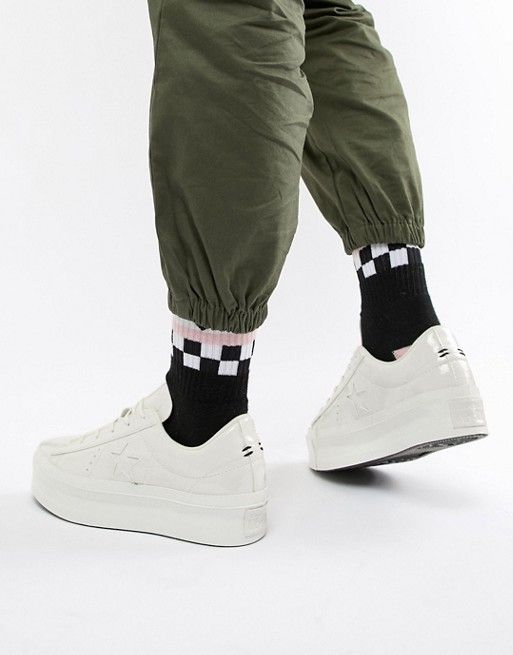 c7b42197004 Converse One Star platform ox vintage white sneakers in 2019 ...