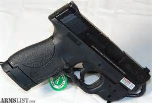 . Wesson S&W M&P9 Shield 9mm with Green Crimson Trace Laser Sight NIB
