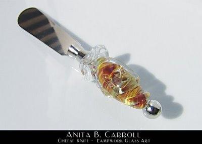 Cheese Knife.  Glass works by #Anita B. Carroll