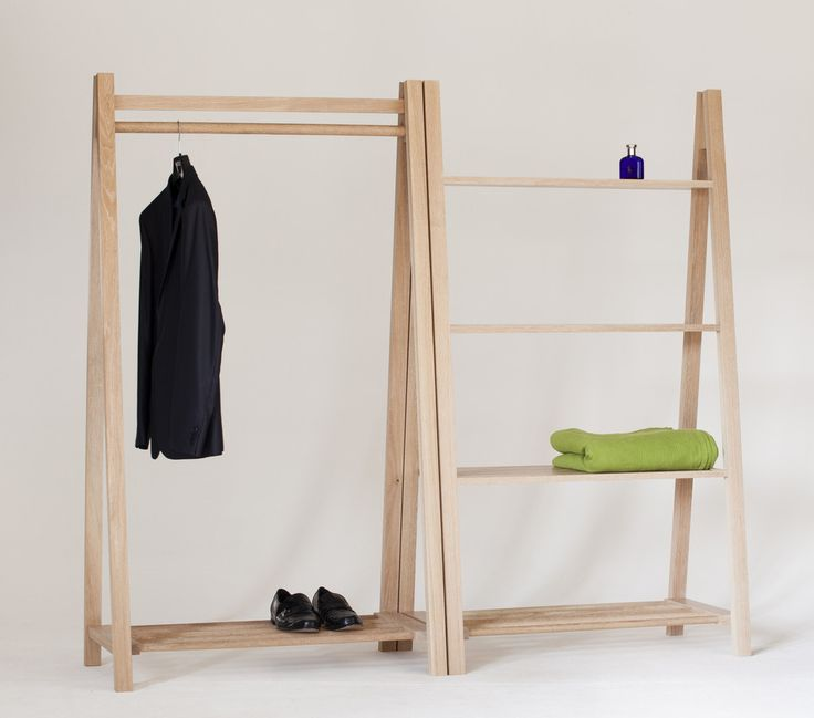 The Egon clothes rack is ideal for environments with limited storage or where clothes are to be displayed. It is made using FSC solid oak or ash with turned wooden lengths that are used for the lower shelf and the clothes rail.   The Egon is constructed using honest traditional timber frame jointing techniques. Leaving the joints exposed to be admired.   This clothing rack can be twinned with our Vago shelving unit, offering storage for folded clothes or objects in general. Alternatively…