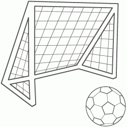 Soccer Net Coloring Page