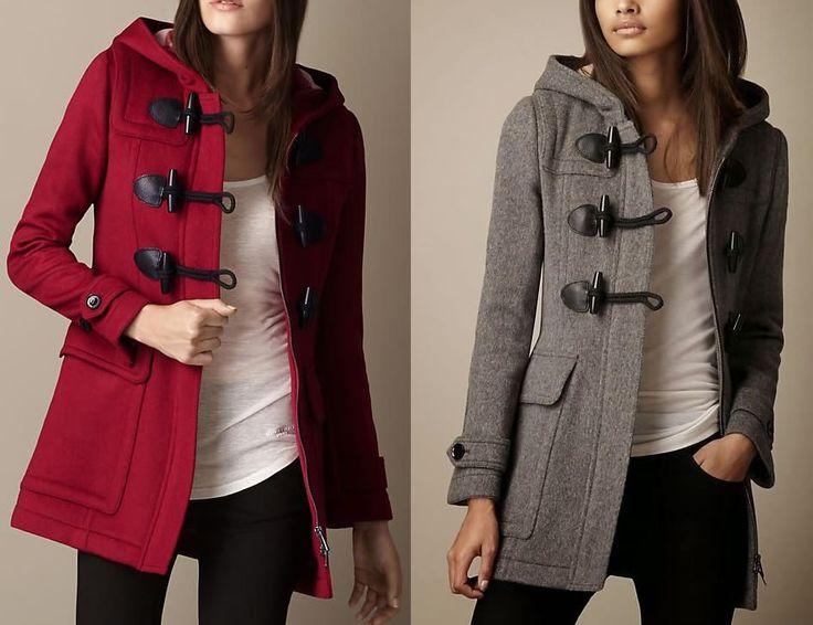 Patrón de abrigo con capucha debotones originales. Tallas, desde la XS hasta la XXXL que corresponden desde la 36 hasta la 56