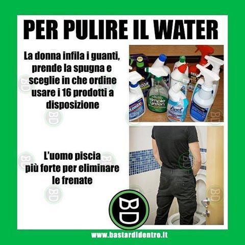 #uomini e #donne: due scuole di pensiero a confronto su come pulire il #water  Seguici su youtube/bastardidentro… www.bastardidentro.it