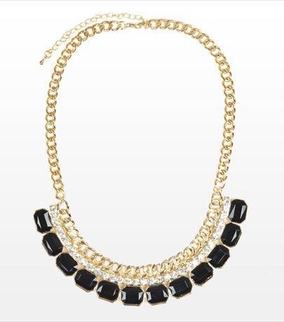 Chic black stones statement necklace! #DYNHOLIDAY
