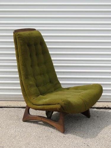 Vintage Mid Century Art Modern Adrian Pearsall Bucket Lounge Chair 1960s  Retro