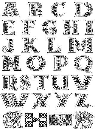 50 best celtic fonts images on Pinterest | Illuminated letters ...