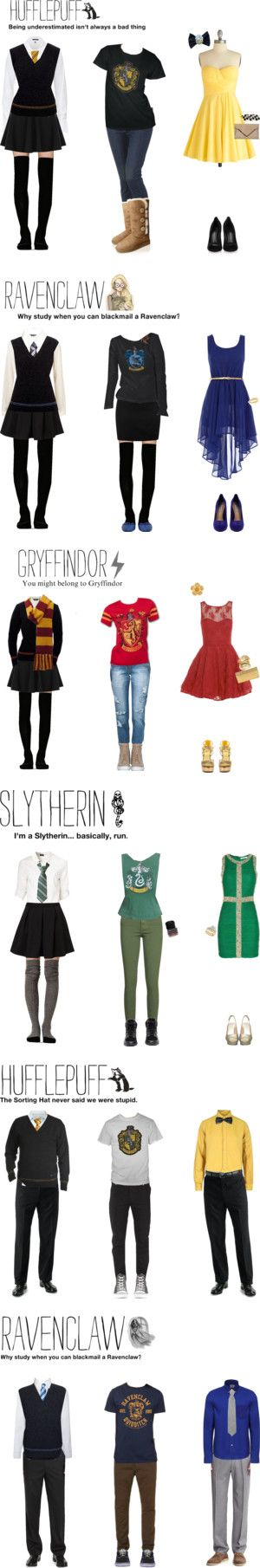 """Hogwarts Clothing"" by aine-angel ❤ liked on Polyvore"