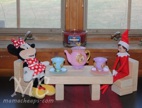 Creative Elf on the Shelf ideas: Tea Time