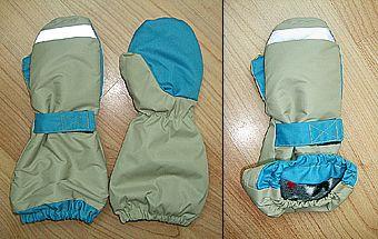 Утепленные варежки-краги для ребенка. Выкройка и описание.