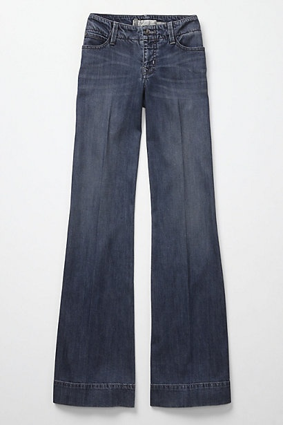 Wide-leg trouser jeans from Anthropologie--love, love, love anthropology