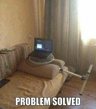 #redneck laptop cooling fan