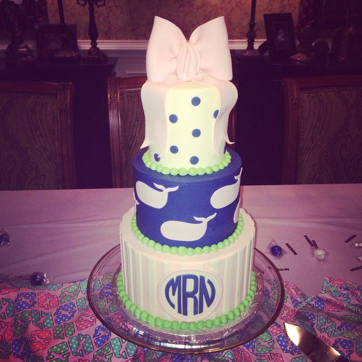 Vineyard vines monogrammed birthday cake