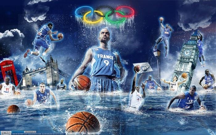 Wallpaper French Basketball Team JO 2012