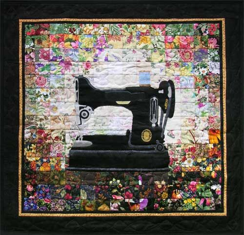 """""""Grandma's Sewing Machine"""" (from Whims Watercolor Quilt Kits)"""
