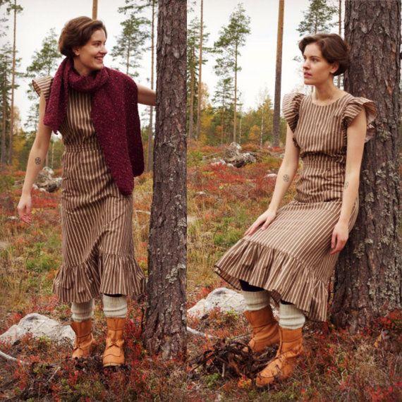 Vintage Marimekko Mari-Essu apron dress by AuroraNordicVintage