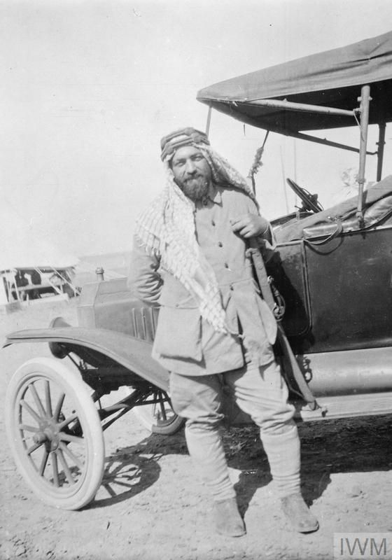 Jaafar (Gaafer) Pasha, a former Turkish Army officer in charge of a force of Arab regulars at Akaba. Photograph possibly taken at Wejh.TE LAWRENCE AND THE ARAB REVOLT 1916 - 1918