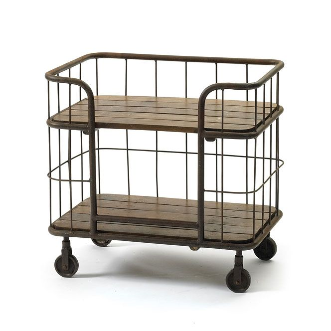 Smooth Roll 2-Tiered Table Cart