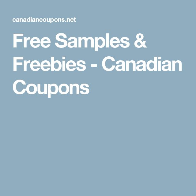 Free Samples & Freebies - Canadian Coupons