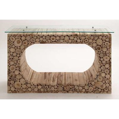 Woodland Imports Hole Klaten Portable Console Table