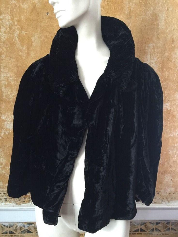 Black Velvet 1920s Flapper Art Deco Cocoon Opera Evening ...