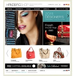 Handbags business custom #ecommerce website