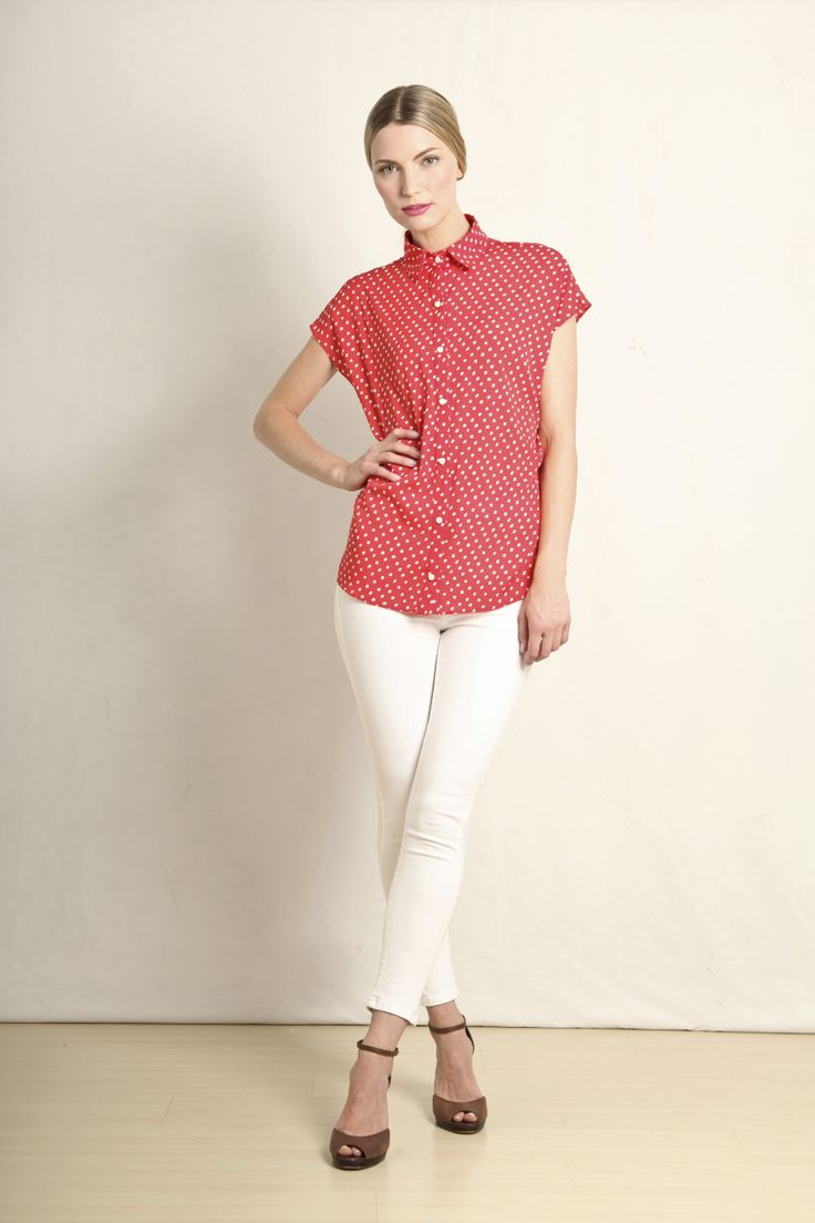 Summer shirt in red polka dot  GB213-RED  R399.00  www.georgieb.com