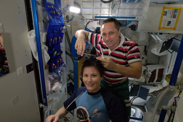 Haircut in space - quite the salon!
