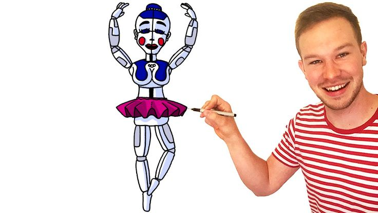 How to Draw Ballora from FNaF Sister Location