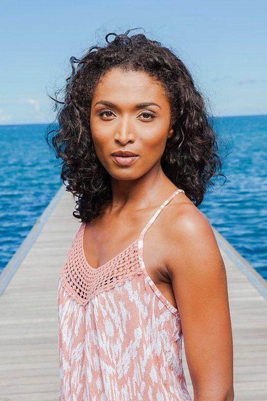 Camille Bordey (Sara Martins) in Death in Paradise.