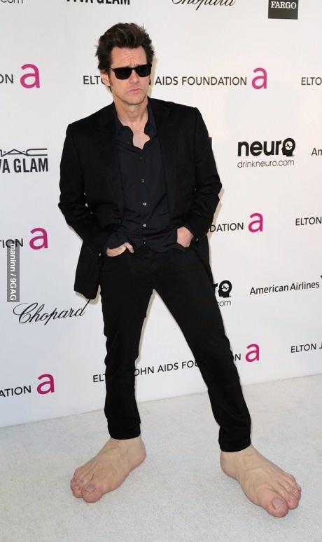 Jim Carrey being Jim Carrey