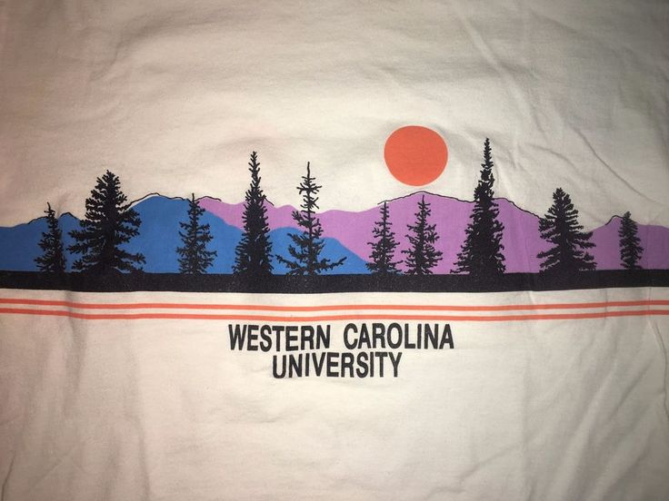 Vintage 90's Western Carolina University T Shirt Size Large Smokey Mountain WCU #CottonExchange #GraphicTee