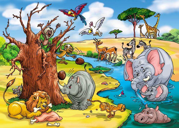 Сорока-ворона. Животные в Африке. худ. А. Шахгельдян