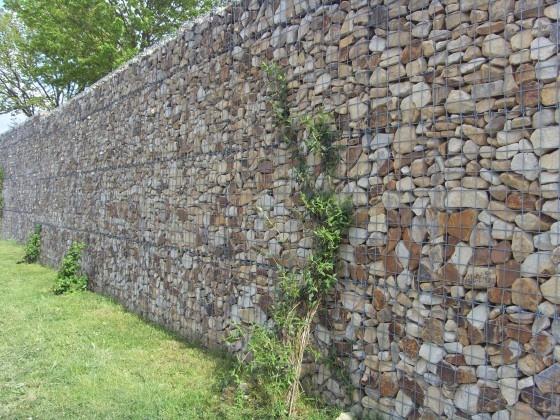 Super Als #Mauer #Garten #Planung Und # Ausführung Www.ericclassen.de |  Sichtschutz   Begrünung, Mauer,Gabione, Holz | Pinterest | Nachbar,  Sichtschu2026