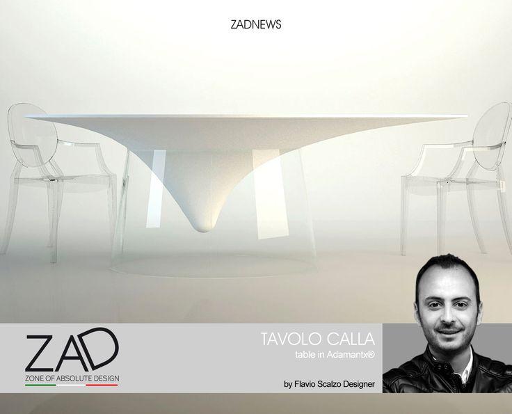 TAVOLO CALLA, del 26-04-2017, Designer Flavio Scalzo