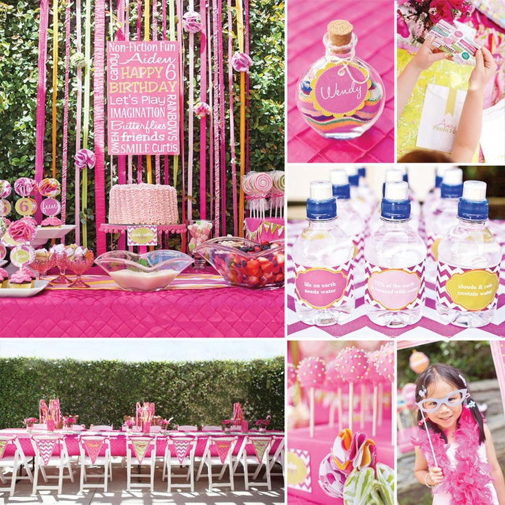 """Darling """"Non Fiction Fun"""" Pink Birthday Party"""