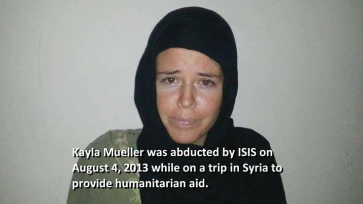KAYLA MUELLER: A LIFE DEEMED EXPENDABLE BY HUSSEIN OBAMA VIDEO: The Kayla Mueller Proof-of-Life Video ISIS Sent Her Parents  TOO BAD MR O COULDN'T NEGOTIATE A DEAL FOR HER. HE'D MUCH RATHER CUT DEALS WITH THE SCHIZO IRANIS.