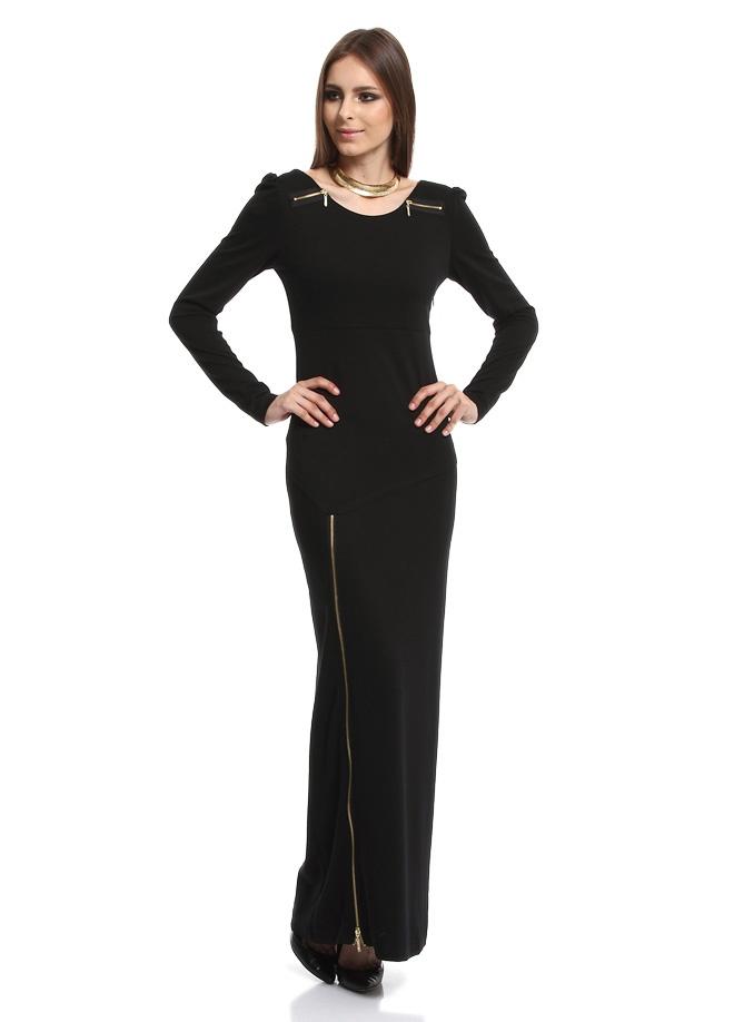 LRS Yırtmacı Metal Fermuarlı Uzun Elbise Markafoni'de 199,99 TL yerine 79,99 TL! Satın almak için: http://www.markafoni.com/product/2982676/