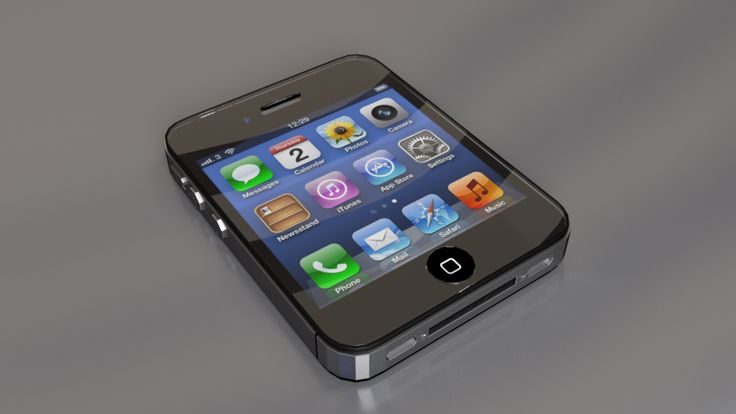 iPhone nano concept lowpoly blender cycles