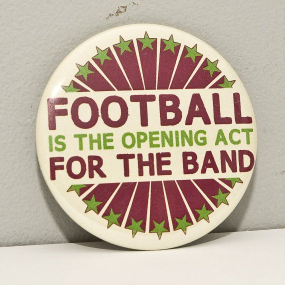 Funny Marching Band  Football 2.25 inch pinback by hornandcastle, $3.00