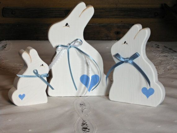 Handmade Wooden Easter Bunny/Spring Decoration  by TheCountryTouch