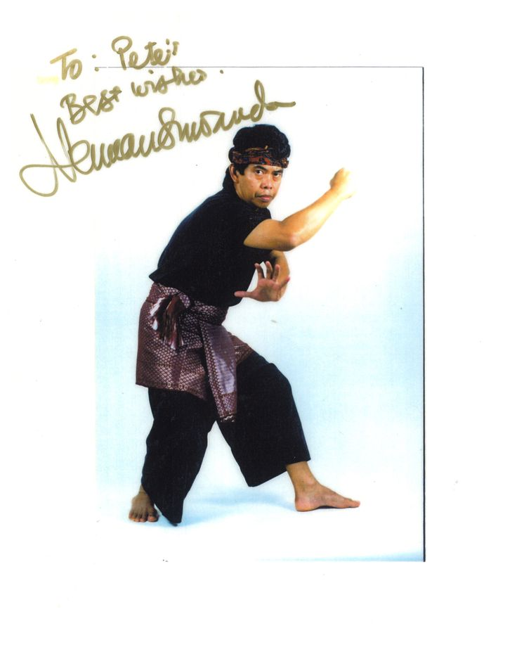 Here is the late great Pak Guru Hurman Suwanda who founded the Mande Muda system of Pencak Silat. I trained a very short time with him at the Dan Inosanto academy when I was visiting Guro Felix Valencia. Mr Suwanda changed my outlook on how I do my Ketsugo Jujutsu. He actually thought I was doing Munde Muda. Nope it was Ketsugo Jujutsu. But what an honor to hear that from him. http://brewsterarnis.com/