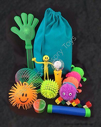 Pheebsters Sensory Toy Bag / Fidget Kit /10 Fiddle Toy Bag - Autism, Special Needs, ASD, SEN, ADHD, SPD
